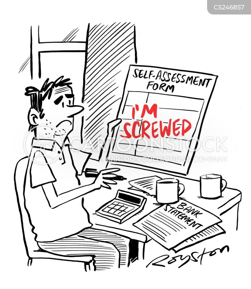 self-assessment cartoon