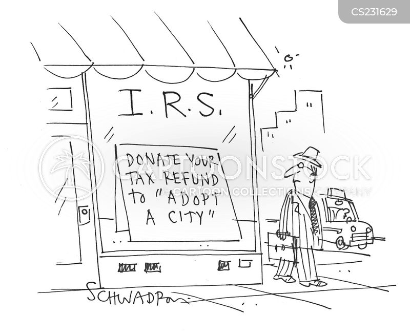 tax refund cartoon