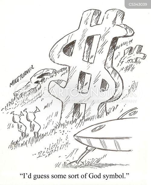 dollar signs cartoon