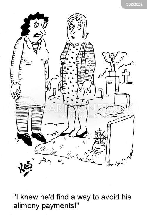 alimony payment cartoon