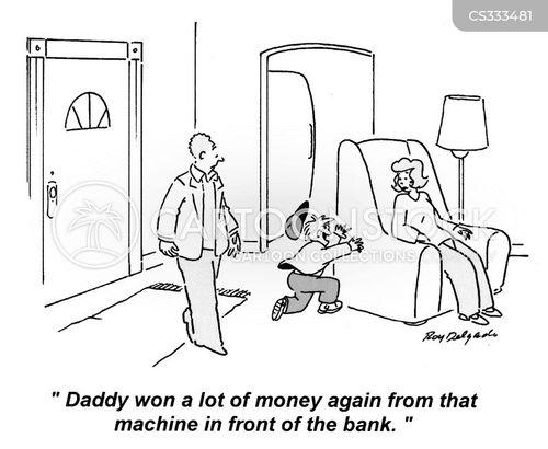 withdrawing cartoon