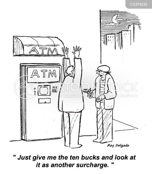 automatic teller machine cartoon