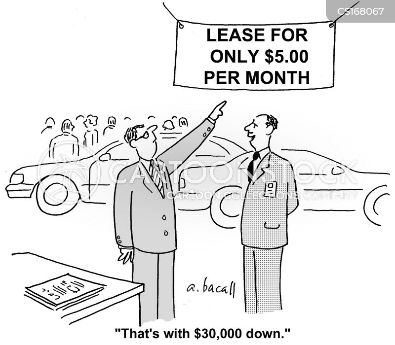 car salesman cartoon