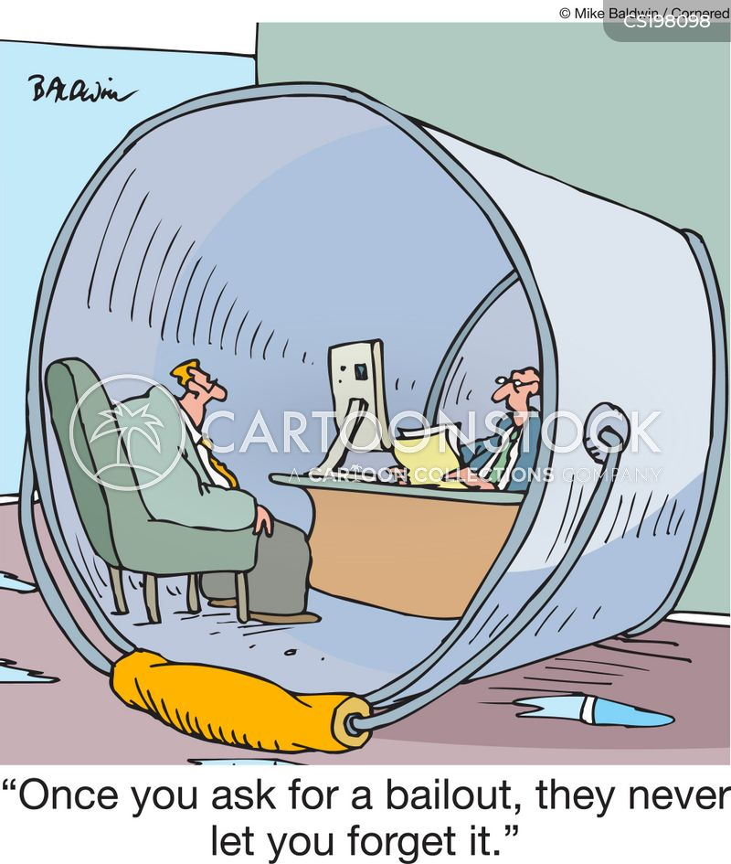 staying afloat cartoon