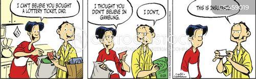 lotto tickets cartoon