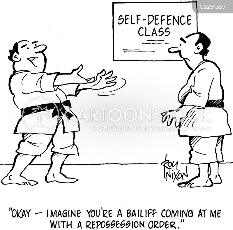 self defence class cartoon