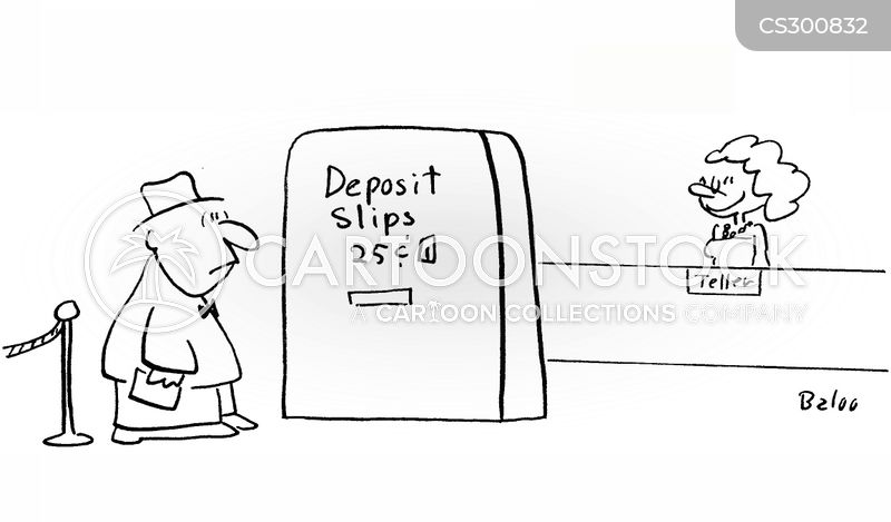 deposit money cartoon