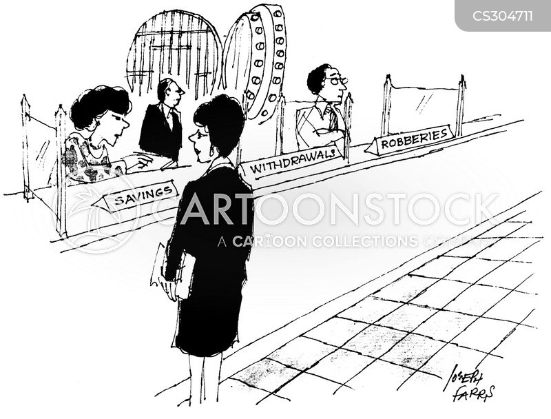 bank assistants cartoon