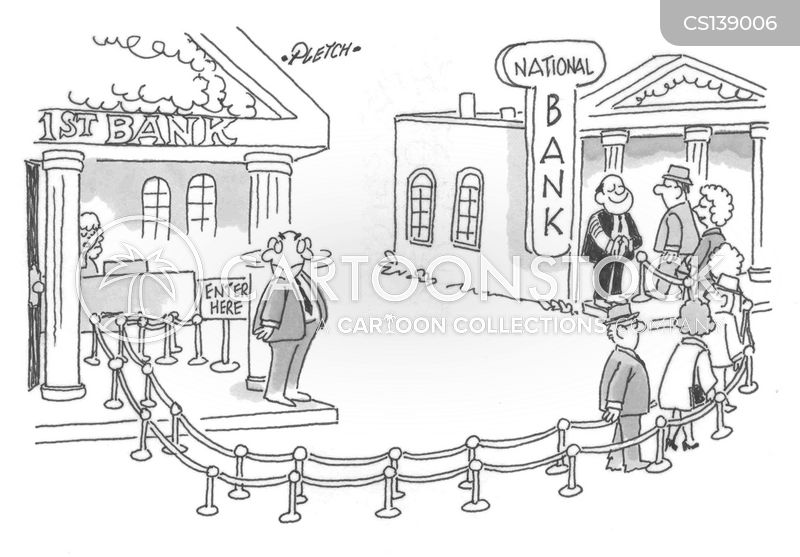 banking competition cartoon