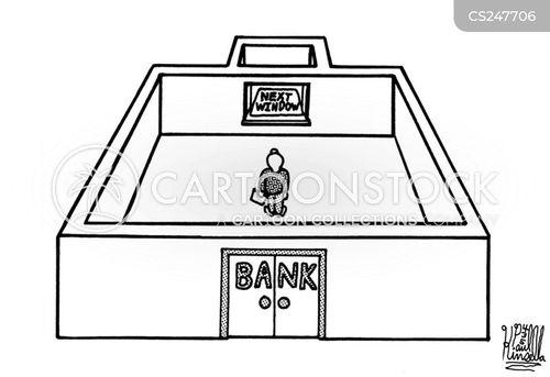 banking fraud cartoon