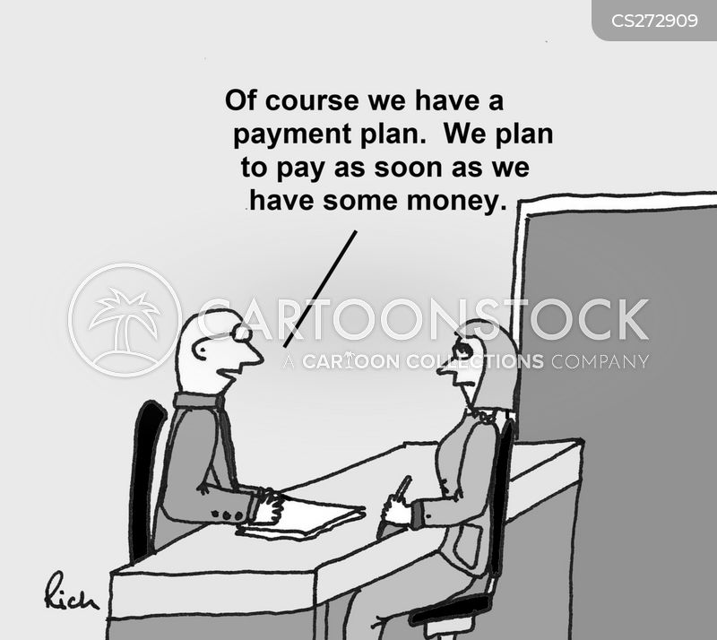 payment plan cartoon