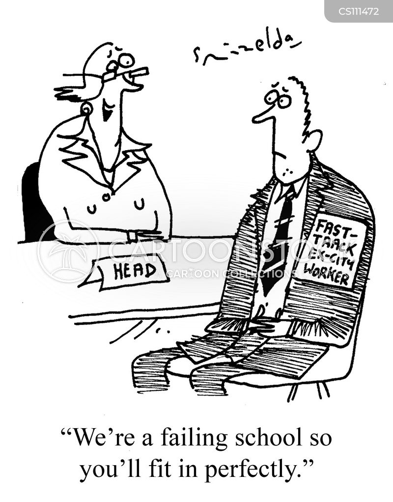 failing schools cartoon