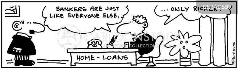bank credit cartoon