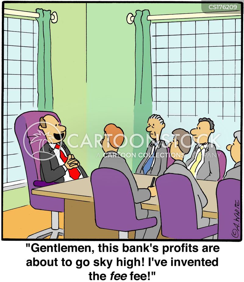 Bank Fee Cartoons And Comics