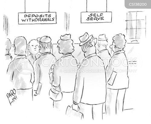 self serve cartoon