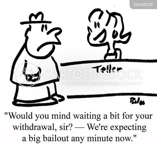 bank withdrawal cartoon