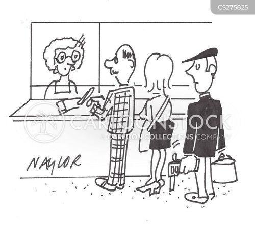 queuer cartoon