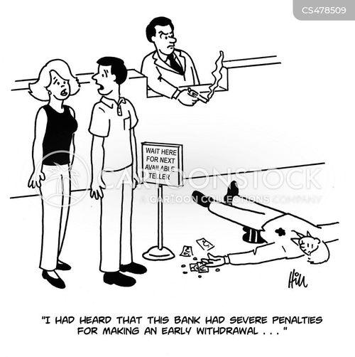 banking fee cartoon