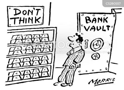 bank vaults cartoon