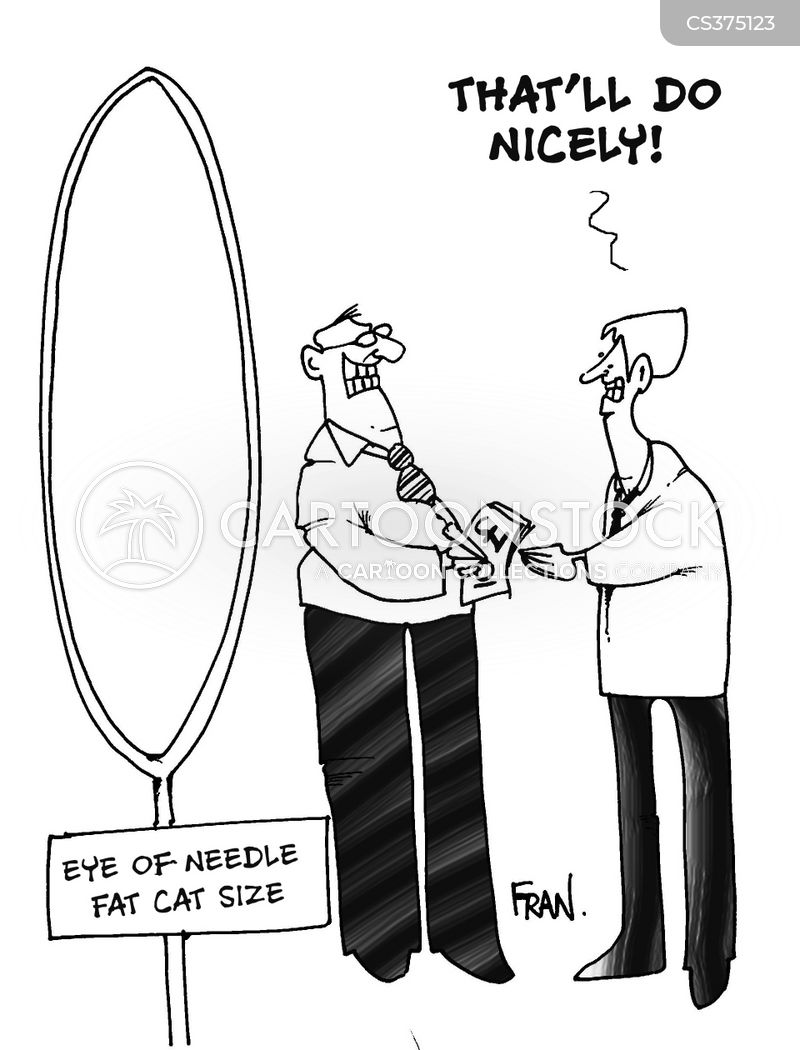 eye of a needle cartoon