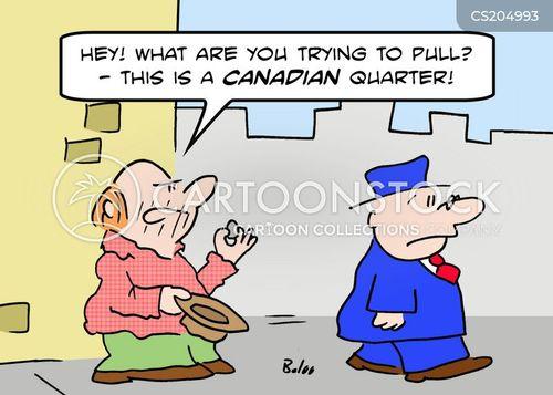 canadian quarter cartoon