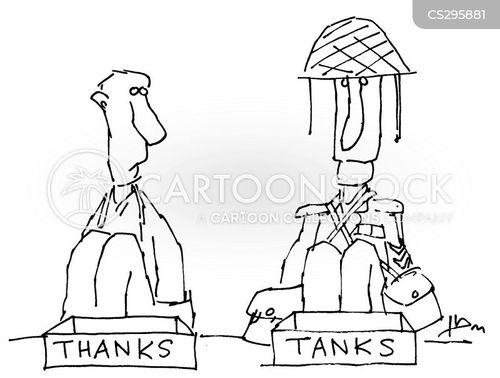 thanked cartoon