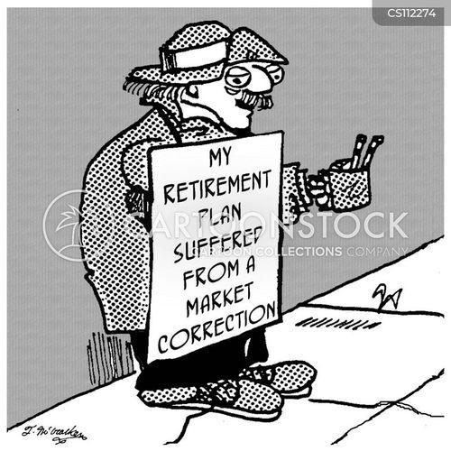 market correction cartoon