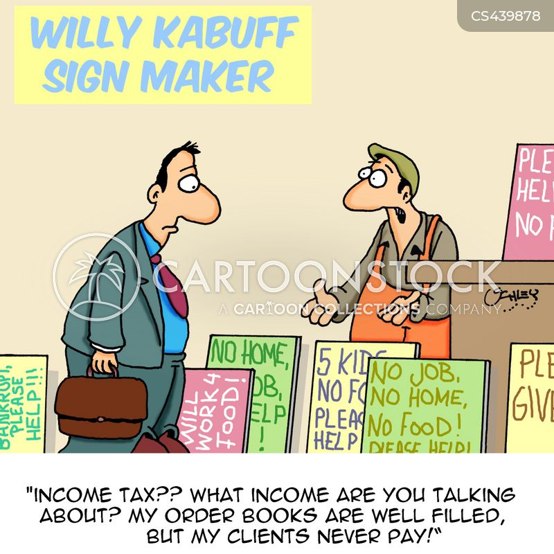 begging sign cartoon