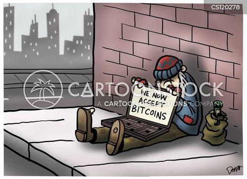 cryptocurrency cartoon