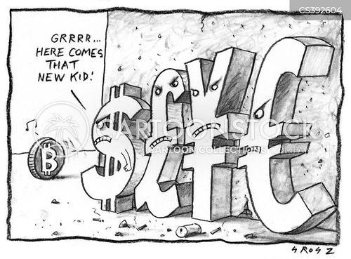 electronic currencies cartoon