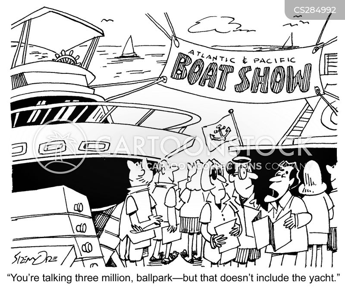 boat show cartoon