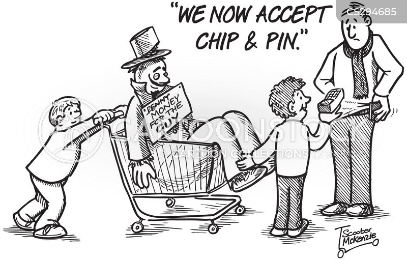 chip and pin cartoon