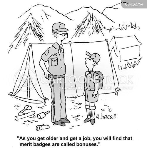 scout camp cartoon