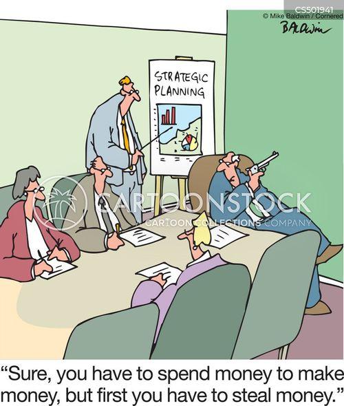 spend money to make money cartoon