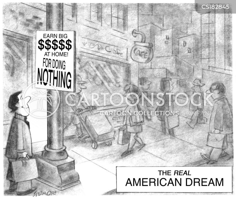 American Dream Cartoons And Comics Funny Pictures From Cartoonstock
