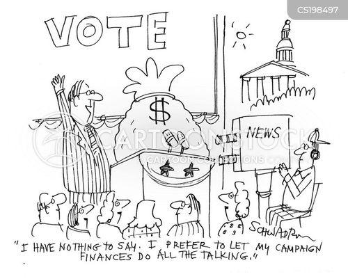 campaign finances cartoon