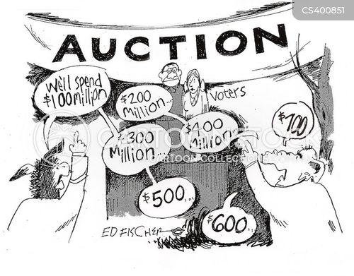 campaign spending cartoon