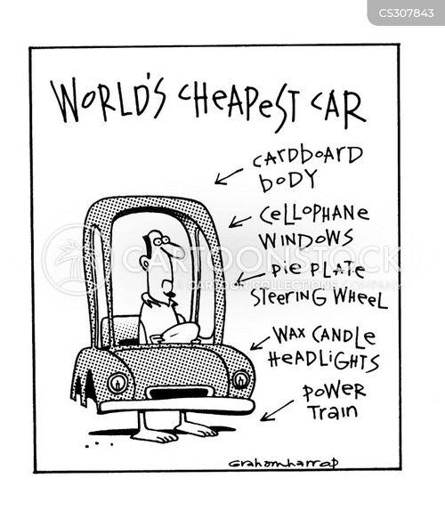 economy cars cartoon