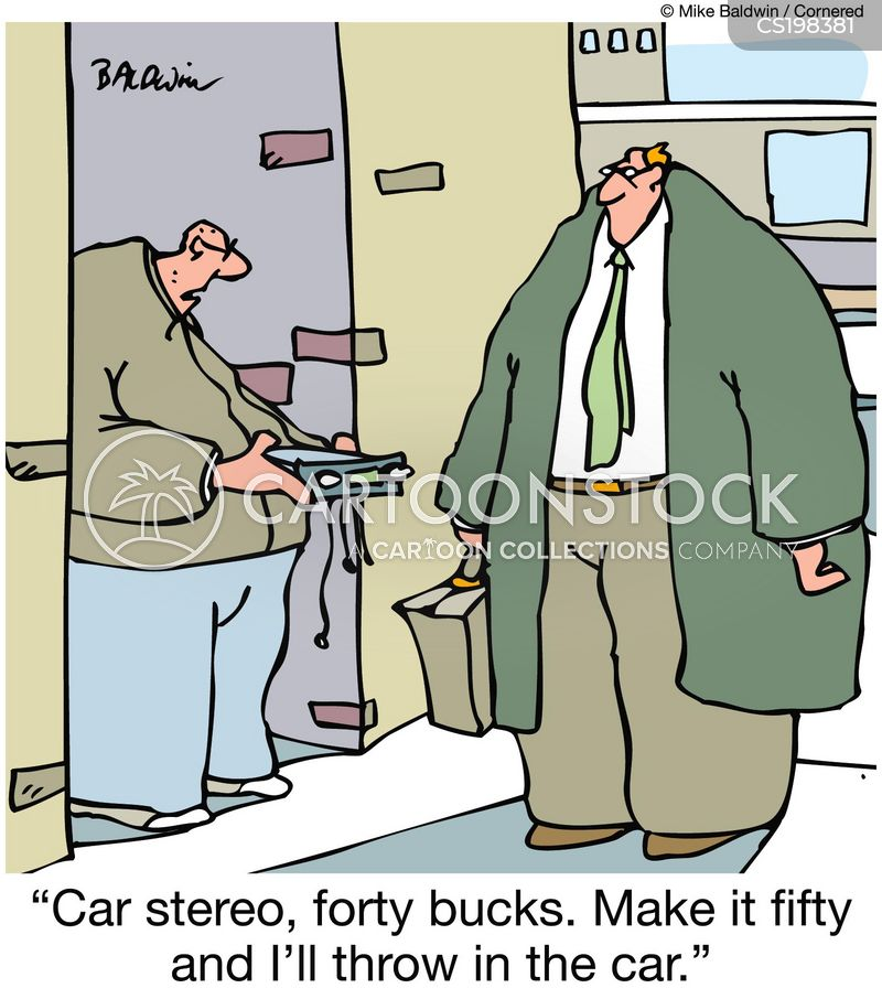 car radios cartoon