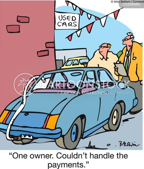 car payments cartoon