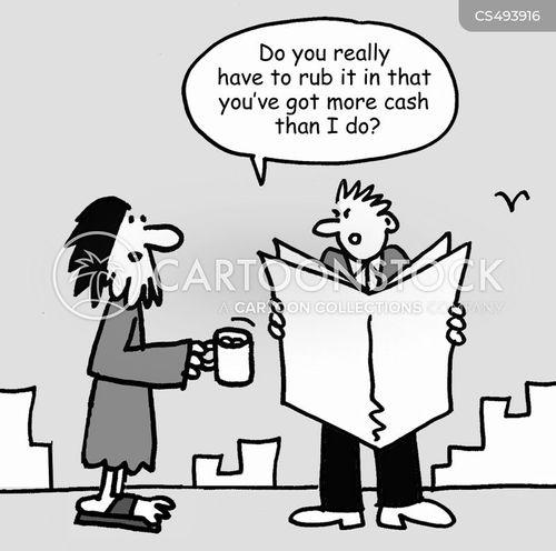 begging cup cartoon