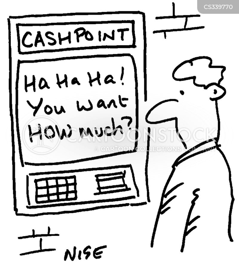 bank balance cartoon