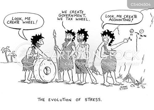 stress out cartoon