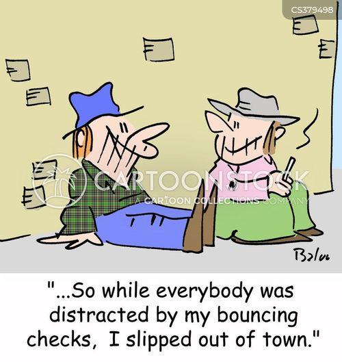 bouncing checks cartoon