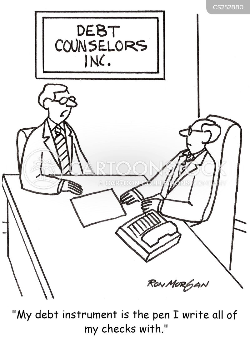 debt counsellor cartoon