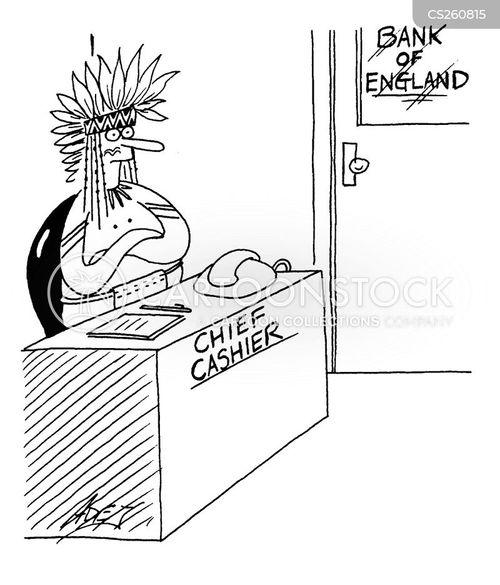 bank cashier cartoon