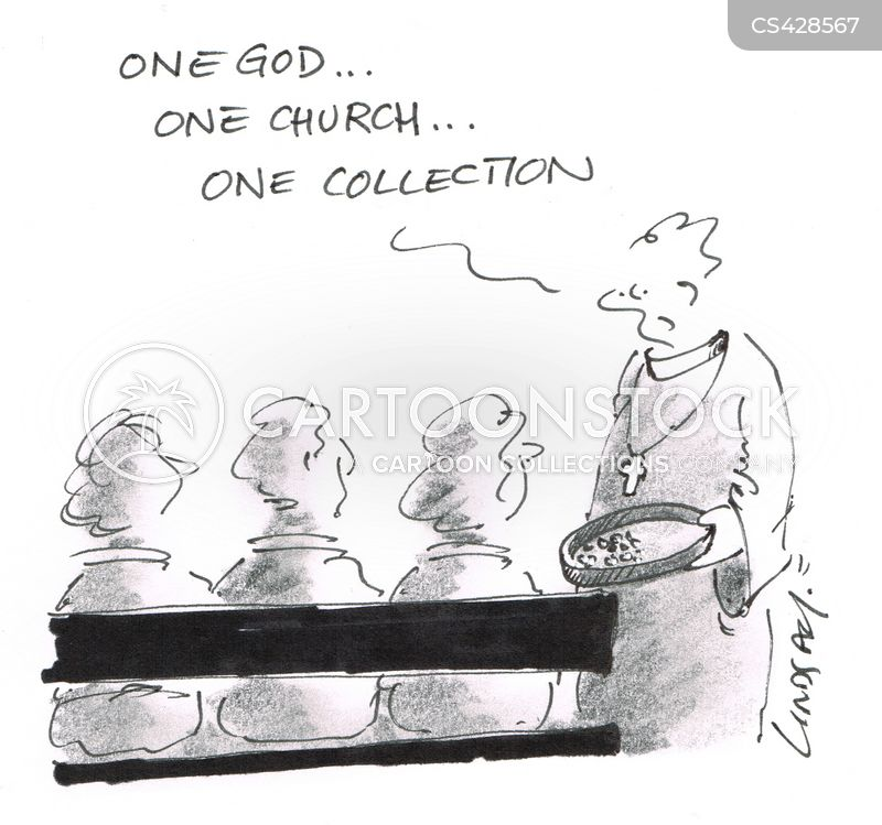 collection plate cartoon