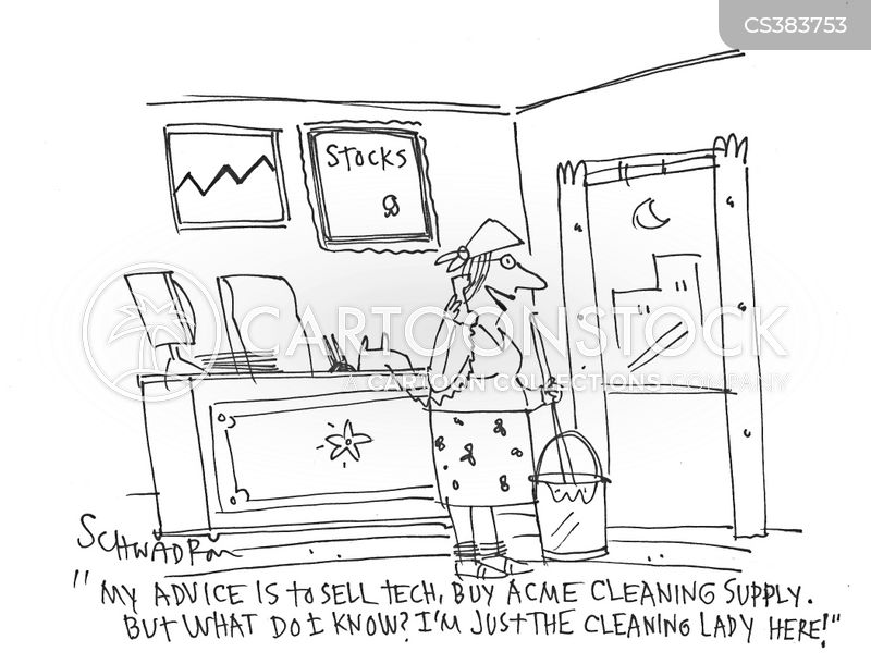 stock advice cartoon