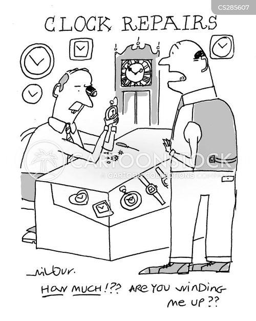 clock repair cartoon