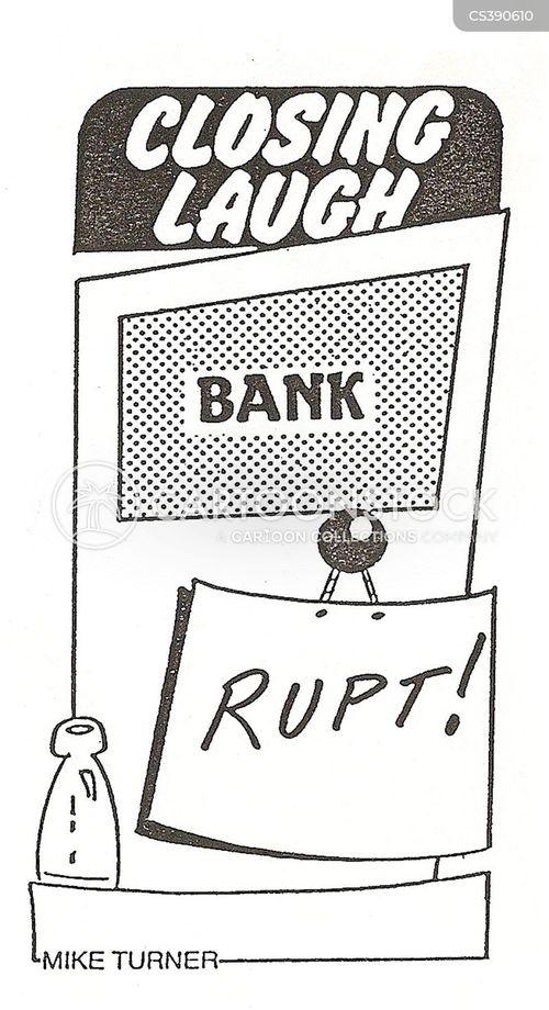 going bust cartoon